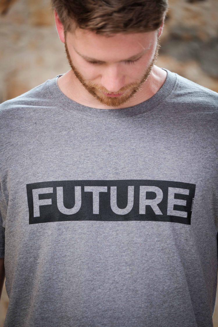 ÄSTHETIKA T-Shirt - FUTURE grey/black detail