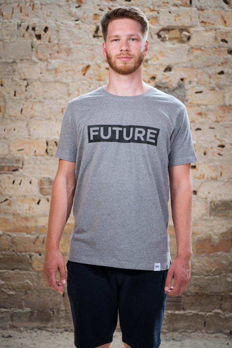 ÄSTHETIKA T-Shirt - FUTURE grey/black front