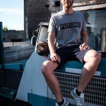 ÄSTHETIKA T-Shirt - FUTURE grey/black mood