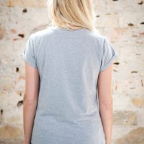 ÄSTHETIKA T-Shirt Roll Up - GRL PWR grey/black back