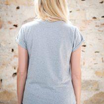 ÄSTHETIKA T-Shirt Roll Up - GRL PWR grey/black back