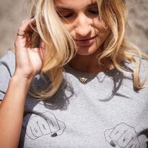 ÄSTHETIKA T-Shirt Roll Up - GRL PWR grey/black detail