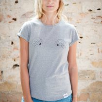 ÄSTHETIKA T-Shirt Roll Up - GRL PWR grey/black front