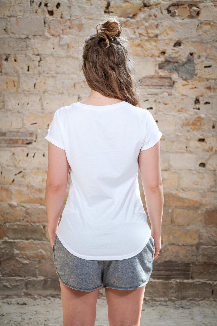ÄSTHETIKA T-Shirt Roll Up GRL PWR white/black back