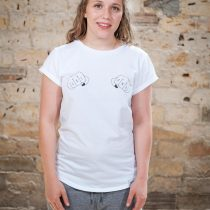 ÄSTHETIKA T-Shirt Roll Up GRL PWR white/black front