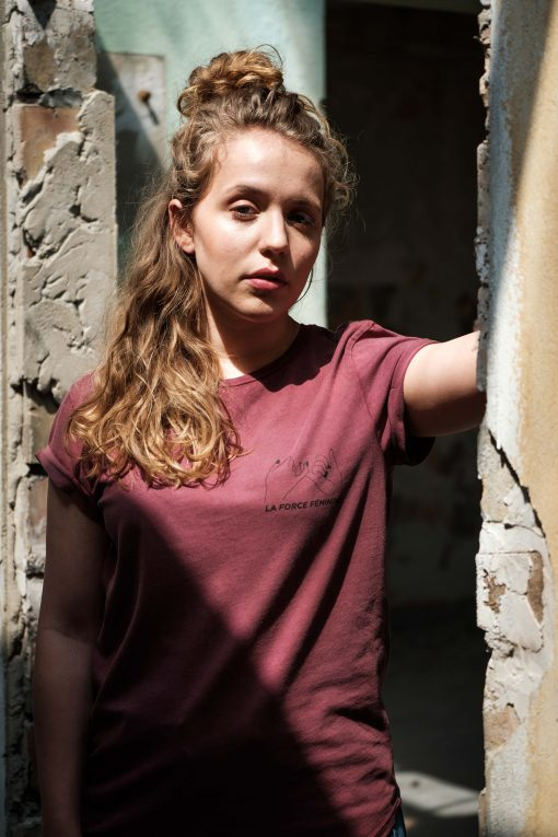 ÄSTHETIKA T-Shirt Roll Up - LA FORCE FÉMININE burgundy/black mood