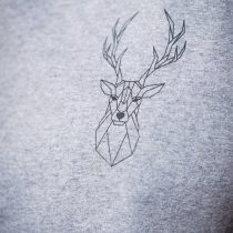 ÄSTHETIKA T-Shirt Roll Up THE DEER grey/black detail