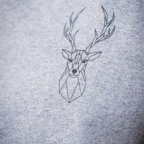 ÄSTHETIKA T-Shirt Roll Up THE DEER grey/black detail