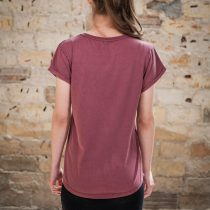 AESTHETIKA T-Shirt - THE CAT burgundy/black back