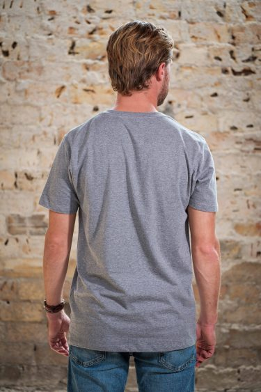 ÄSTHETIKA T-Shirt - THE DEER grey/black back