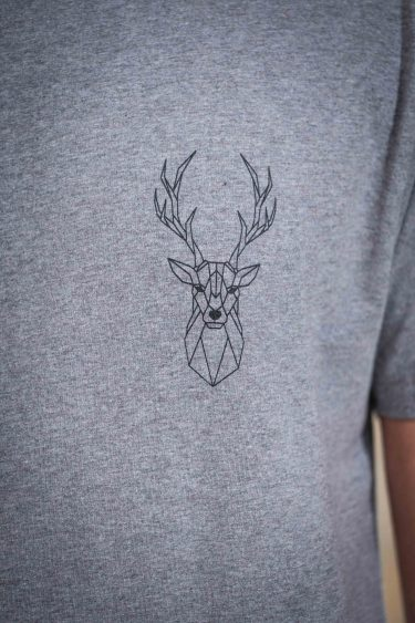 ÄSTHETIKA T-Shirt - THE DEER grey/black detail