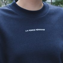 Sweatshirt Cropped - LA FORCE FÉMININE MINI blue/white detail