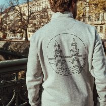 Sweatshirt Trcuker – OBERBAUM grey/black back