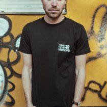 T-Shirt bold united states of europe schwarz7/weiß total