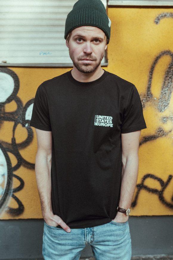 T-Shirt bold united states of europe schwarz/weiß total