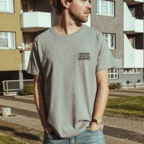 T-Shirt bold united states of europe grau/schwarz total