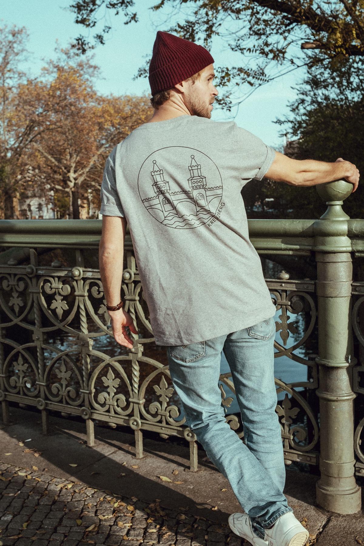T-Shirt bold OBERBAUM grey black mood