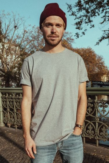 T-Shirt bold OBERBAUM grey black front