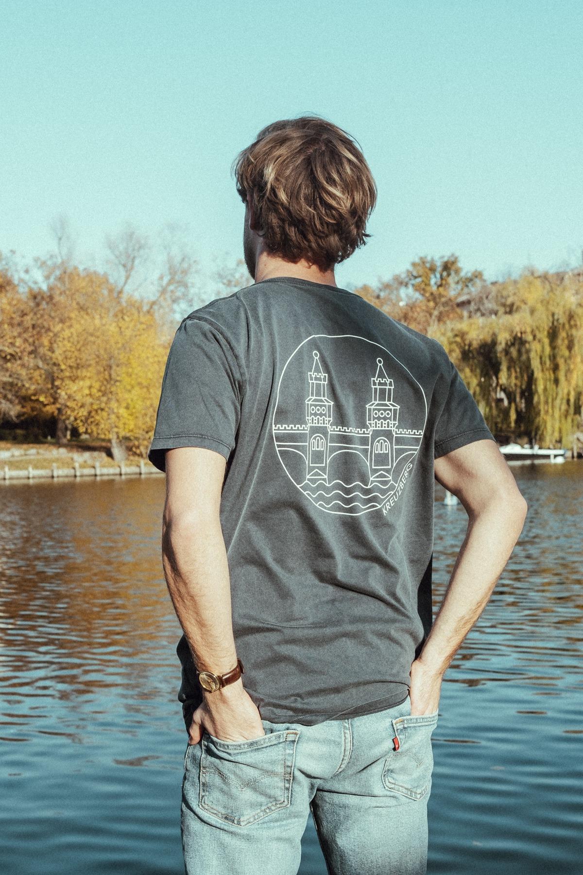 T-Shirt – OBERBAUM blau/weiß