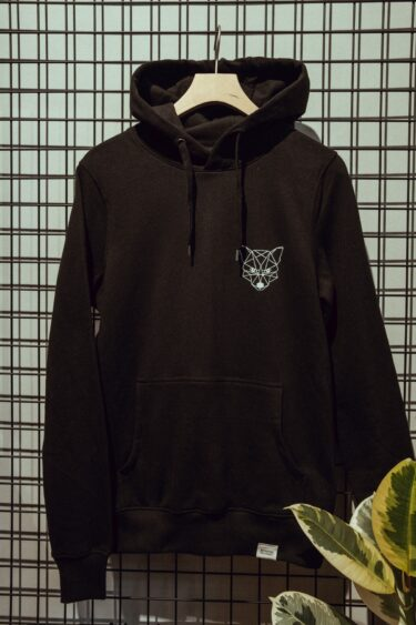 Hoodie – TINY FOX black/white