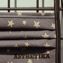 Gesichtsmaske – STERNE anthrazit/gold detail