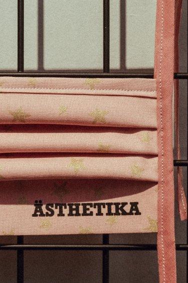 Face Mask – STARS pink/gold detail