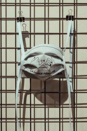 Gesichtsmaske – LA FORCE FÉMININE weiß/blau meliert