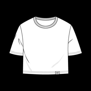 ÄSTHETIKA Womens cropped T-Shirt