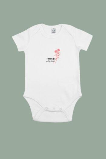 AESTHETIKA BABYBODY Short DESTROY PATRIARCHY white black front baby