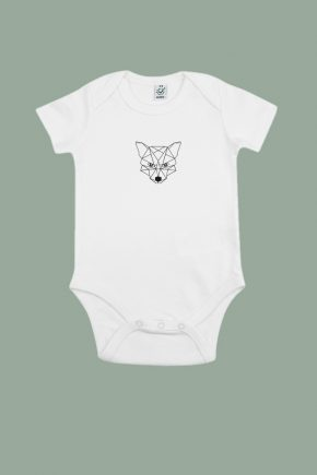 AESTHETIKA BABYBODY Short TINY FOX white black front baby