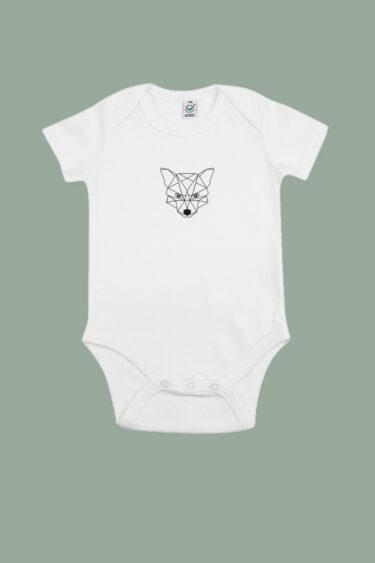 AESTHETIKA BABYBODY Short TINY FOX white black front baby