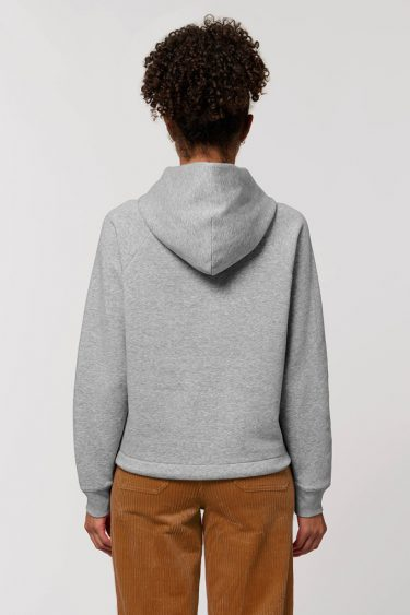 AESTHETIKA HOODIE CROPPED grey back women