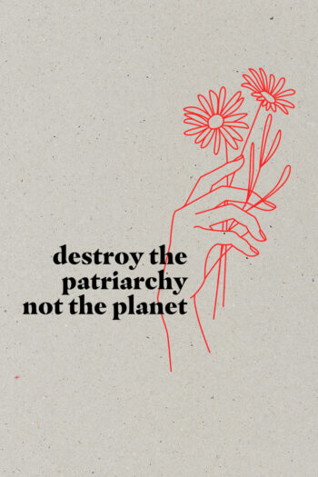 AESTHETIKA Motiv Close Up DESTROY PATRIARCHY