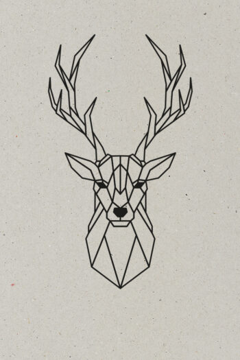 AESTHETIKA Motiv Close Up THE DEER black