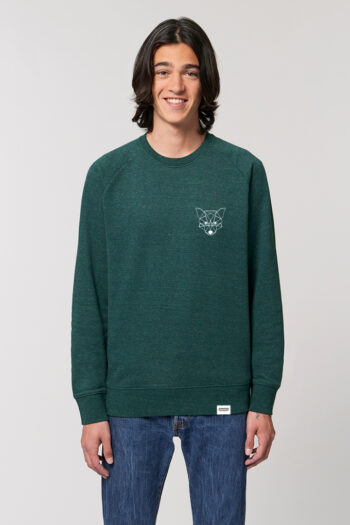AESTHETIKA Sweatshirt TINY FOX snow green black front