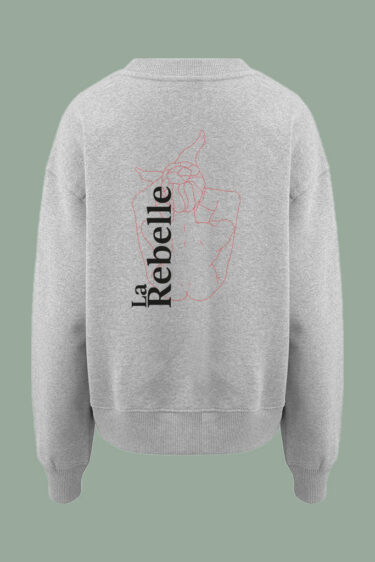 AESTHETIKA Sweatshirt oversized LA REBELLE white red black back women
