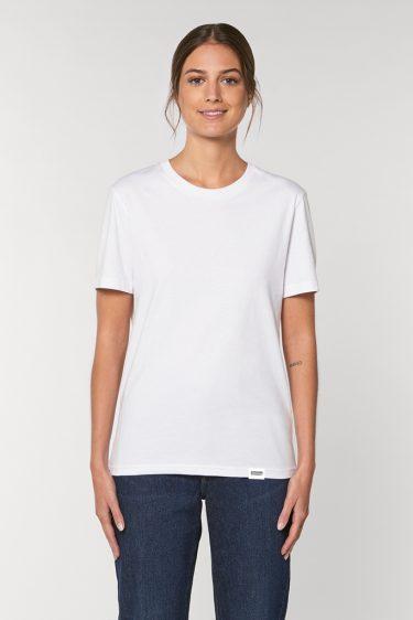 AESTHETIKA T-SHIRT LA REBELLE white red black front women