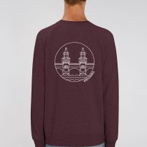 AESTHETIKA_SWEATSHIRT_OBERBAUM grape red white back