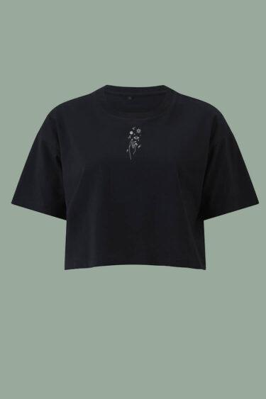 AESTHETIKA T-Shirt cropped black white front women