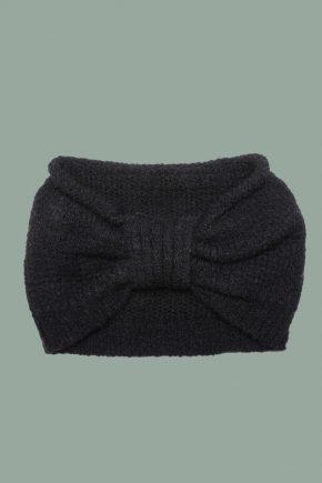 Rifó - Kaschmir Stirnband schwarz detail