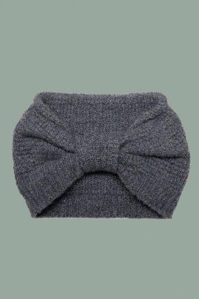 Rifó - Kaschmir Stirnband grau detail