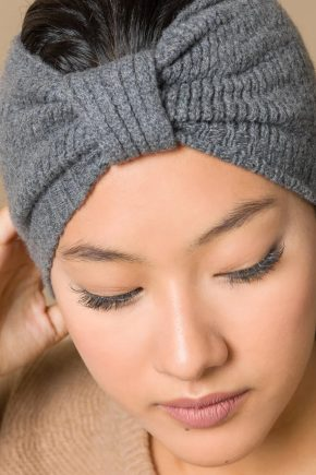 Rifó - Kaschmir Stirnband grau